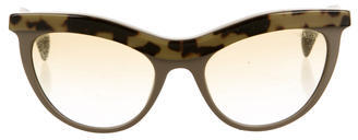 prada Prada Gradient Cat-Eye Sunglasses