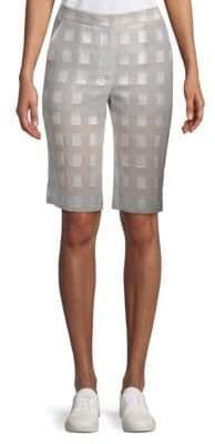 Akris Checkered Cotton Shorts
