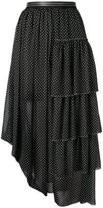 Loewe midi pleated skirt