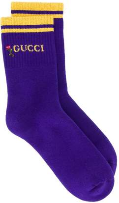 Gucci lurex trim socks