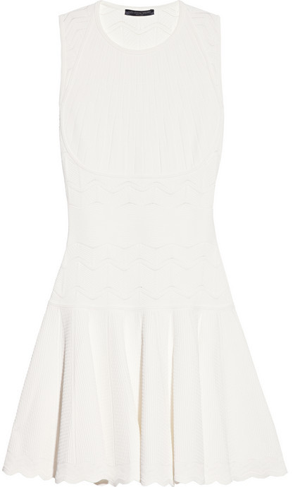 Alexander McQueen Stretch-knit jacquard dress
