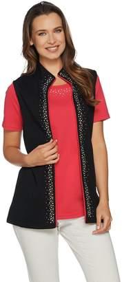 Factory Quacker Color Contrast Vest and Short Sleeve T-shirt Set
