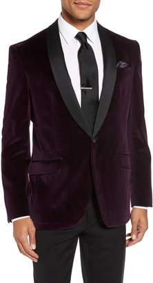 Ted Baker Josh Trim Fit Velvet Dinner Jacket