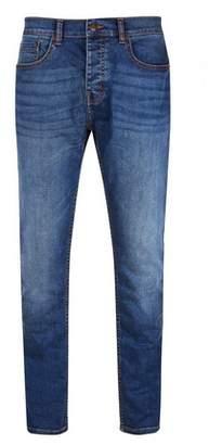 Burton Mens Mid Wash Blue Carter Slim Fit Jeans