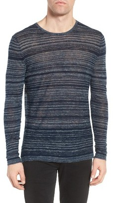 Men's John Varvatos Star Usa Two-Tone Stripe Sweater $198 thestylecure.com