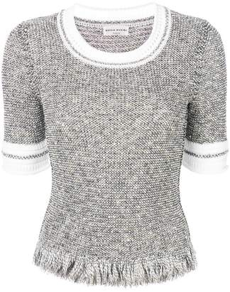 Sonia Rykiel fringed tweed sweater