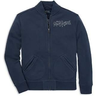 Ralph Lauren Boys' French Terry Zip-Up Moto Jacket - Big Kid