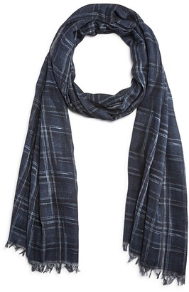 John Varvatos Star USA Abstract Plaid Scarf $98 thestylecure.com