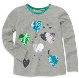 Catimini Little Girl's& Girl's Sequin Hearts T-Shirt