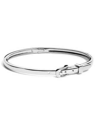 Shinola Jewelry Thin Sterling Silver Buckle Bracelet