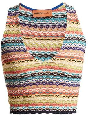 Missoni Mare - Zigzag Striped Cropped Top - Womens - Multi