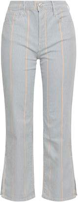 3x1 Striped Denim Bootcut Pants