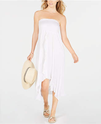 Raviya Strapless High-Low Dress Cover-Up Women Swimsuit