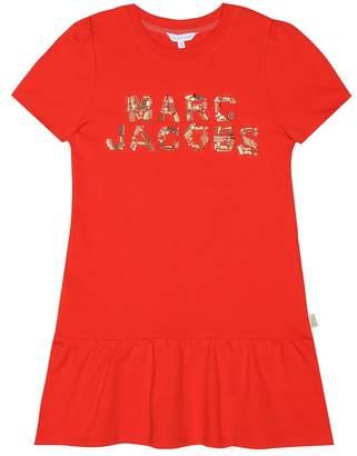 Little Marc Jacobs Embellished cotton dress
