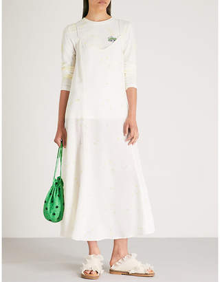Ganni Nolana silk-crepe slip dress