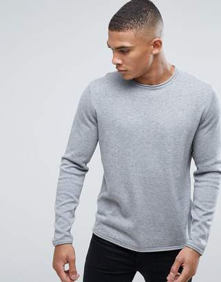 ONLY & SONS Cotton Crew Neck Knitted Sweater