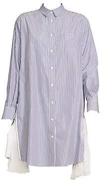 Sacai Women's Poplin Pleated Shirtdress