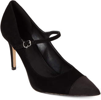 Marc Fisher Black Deepti Mary Jane Suede Pumps