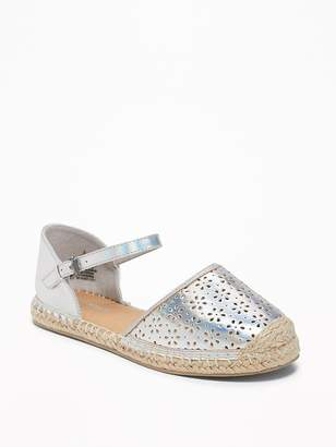 Old Navy Perforated Metallic Espadrilles for Girls