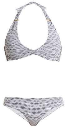 Melissa Odabash Africa Halterneck Bikini - Womens - Navy White