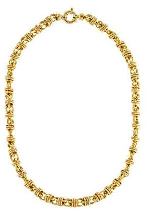 18K Circle Link Chain Necklace
