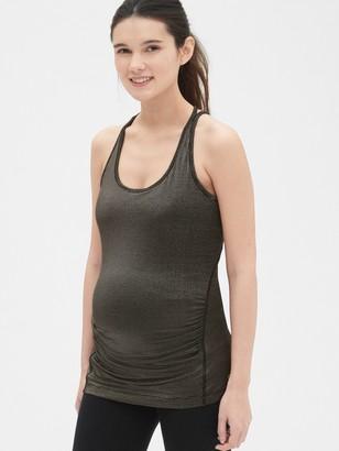 f6be10c92831c Gap Maternity GapFit Breathe Metallic Stripe Shelf Tank Top