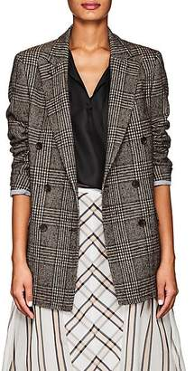 Officine Generale Women's Manon Houndstooth Wool-Blend Double-Breasted Blazer - Brown