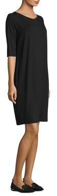 Eileen Fisher Three-Quarter Sleeve Shift Dress $178 thestylecure.com