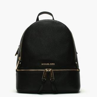 Michael Kors Rhea Black Leather Zip Fastening Backpack