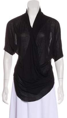 Helmut Lang Sheer Short Sleeve Top