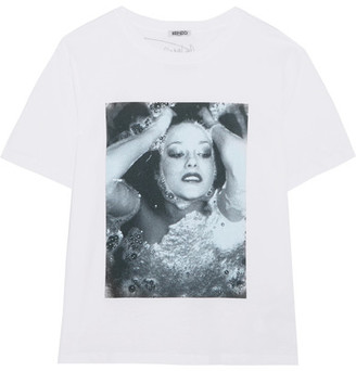 KENZO - Printed Cotton-jersey T-shirt - White $160 thestylecure.com
