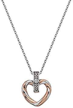 Hot Diamonds Women 925 Sterling Silver Diamond Pendant Necklace of Length 45cm DP675