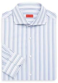 Isaia Regular-Fit Tri-Color Striped Dress Shirt