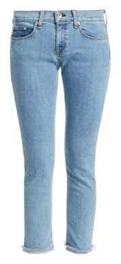 Rag & Bone Dre Rolled Raw Cuff Ankle Jeans