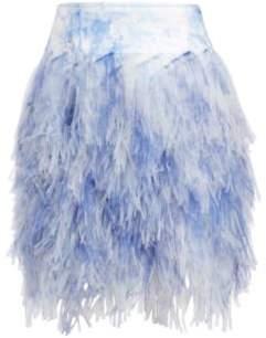 Ralph Lauren Fern Tulle Miniskirt Off White Multi 2