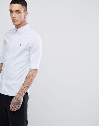 AllSaints Short Sleeve Shirt In Poplin
