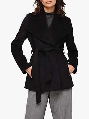 Nicci Short Coat, Charcoal Marl