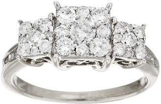 Affinity Diamond Jewelry Affinity 1.00 cttw 3-Stone Princess Cut DiamondRing, 14K
