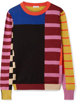 Tomas Maier Patchwork Cotton Sweater - Pink