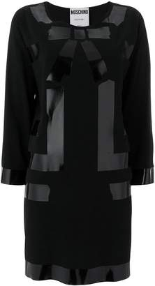 Moschino shiny bow shift dress