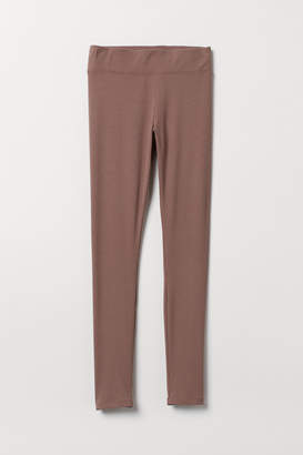 H&M Ribbed Leggings - Pink