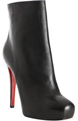Christian Louboutin black nappa 'Mamanouk' ankle boots