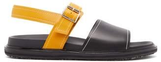 Marni Colour Block Leather Sandals - Mens - Black Yellow