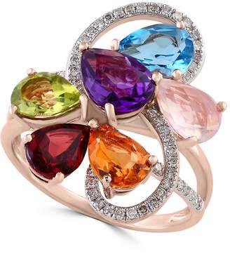 Effy Fine Jewelry 14K Rose Gold 4.25 Ct. Tw. Diamond & Gemstone Ring