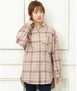 INGNI (イング) - INGNI チェック柄BIGシャツ