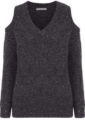 Rebecca Minkoff Wool Bland Jumper With Cold-Shoulder