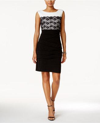 Connected Lace Contrast Sheath Dress $79 thestylecure.com