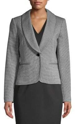 Calvin Klein Plaid Shawl-Collar Blazer