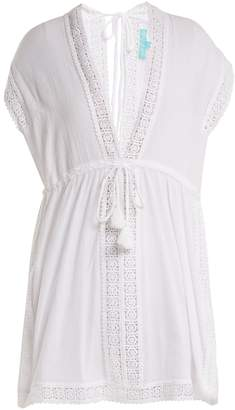 Melissa Odabash Jennifer lace-trimmed cotton dress