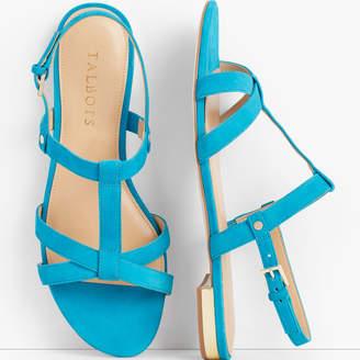 Talbots Keri T-Strap Sandals - Suede